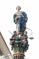 Bern, Altstadt, Gerechtigkeitsbrunnen, Berner Altstadtbrunnen