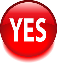 Красная векторная иконка с надписью YES
