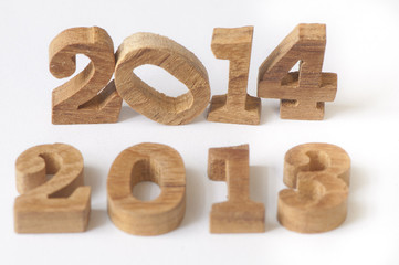 2013 change to 2014, wooden concept