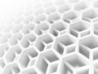 Abstract white honeycomb structure