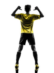 rear view portrait brazilian soccer football player young man po