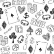 Gambling doodle - seamless vector background