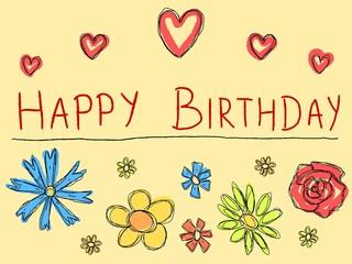 Birthday card - vector illustration