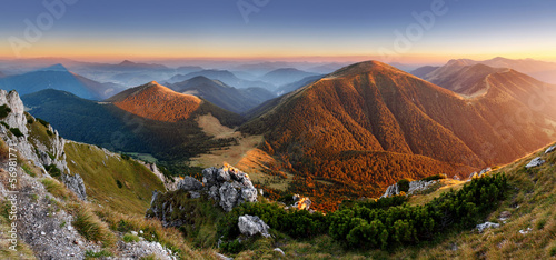 Autumn Slovakia mountain  panorama