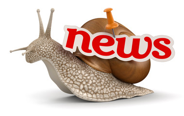 News Snail (clipping path included)