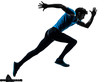 man runner sprinter  silhouette - 56982745