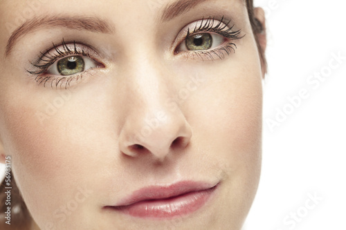 Close up of a woman's face. Beauty shot