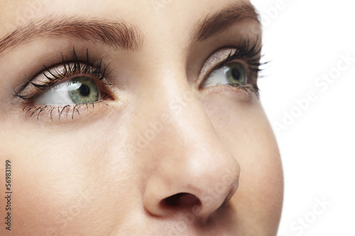 Close up of a woman's face. Beauty shot.