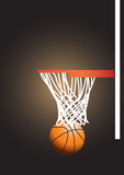 Basketball Hoop with Basketball vector images