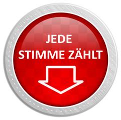 Button rot - jede Stimme zählt