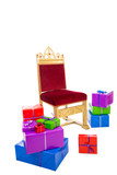 chair of sinterklaas with presents