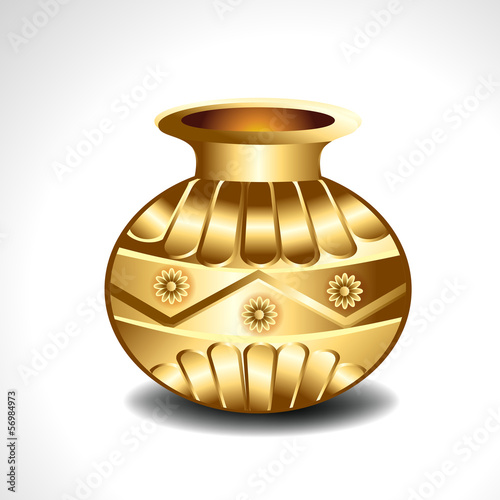 Vector Golden Pot