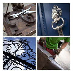 Fer forgé, ferronnerie, artisan, métier, grille, portail