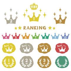 手描きランキングアイコン / Ranking icon