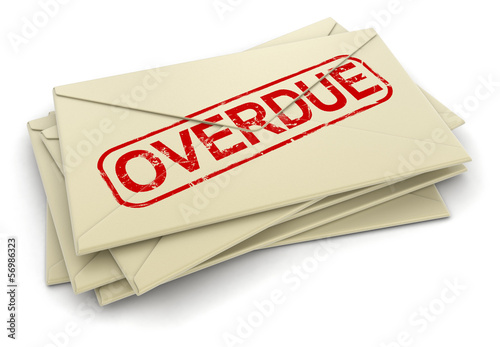 Overdue letters  (clipping path included)