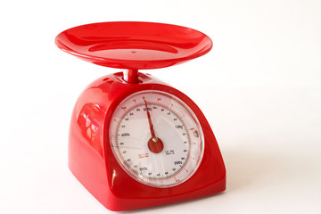 Red Kitchen Scales.