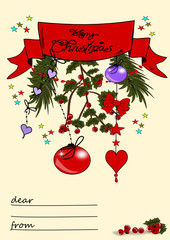 Weihnachten, Grusskarte mit Textfeld