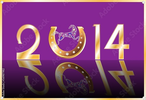 Symbol of the New Year on a purple background