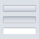 Interface rectangular button template with text field