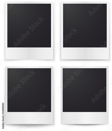 Blank photos template with shadow