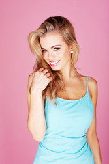 Smiling beautiful blond