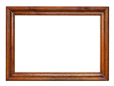 Fototapety wooden brown picture frame