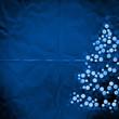 blue paper christmas