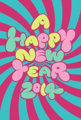 年賀状2014『A HAPPY NEW YEAR』