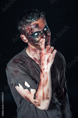 zombie picks his nose