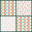4 Seamless Pattern Birthday Retro Color