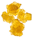 pieces of yellow crystalline sugar