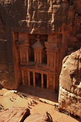 Petra - Jordan - top view of petra's treasury