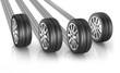 4 Reifen mit Spur
