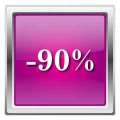 90 percent discount icon