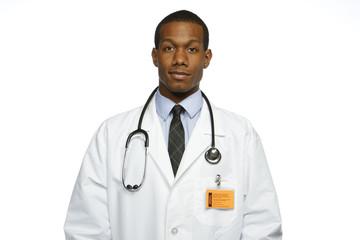 African American doctor, horizontal