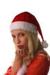 Weihnachtsfrau, isoliert