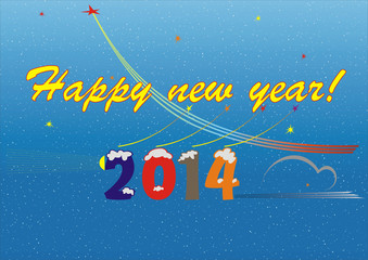 Happy new year greeting for 2014