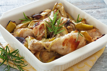 Chicken drumsticks cooked in the oven