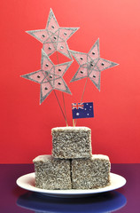 Australia party Lamington cakes with stars