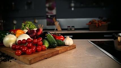 Натюрморт из овощей. Still-life from vegetables.