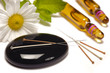 alternative medicine with acupuncture needles