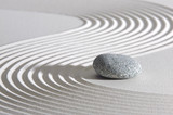 Japan ZEN garden in sand with stone - 56995387
