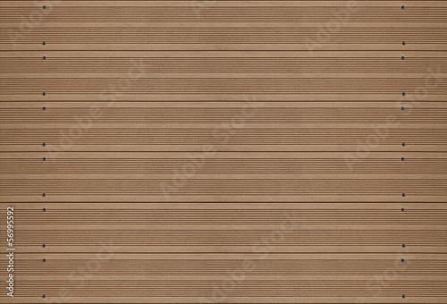 plancher de terrasse en bois rainuré