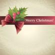 Christmas holly. Vector illustration.