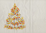 abstract xmas tree paper
