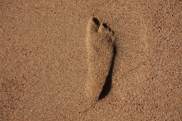 Imprint of human feet