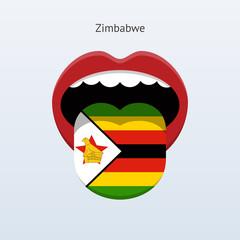 Zimbabwe language. Abstract human tongue.