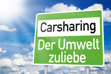 Schild mit Carsharing