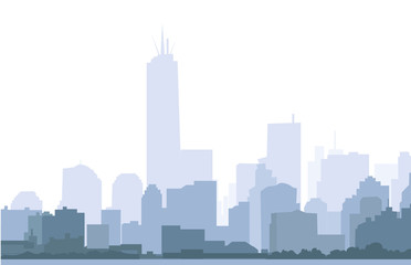 New york Skyline at Morning - Vector