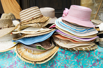 Straw summer hats